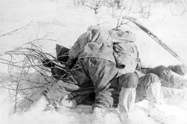 Dyatlov Pass: Young searchers playing in the snow