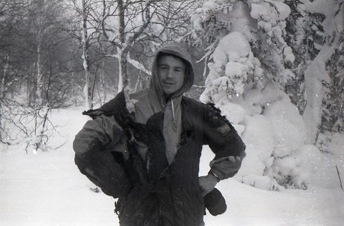 Dyatlov Pass: Slobodin posing in a burnt jacket