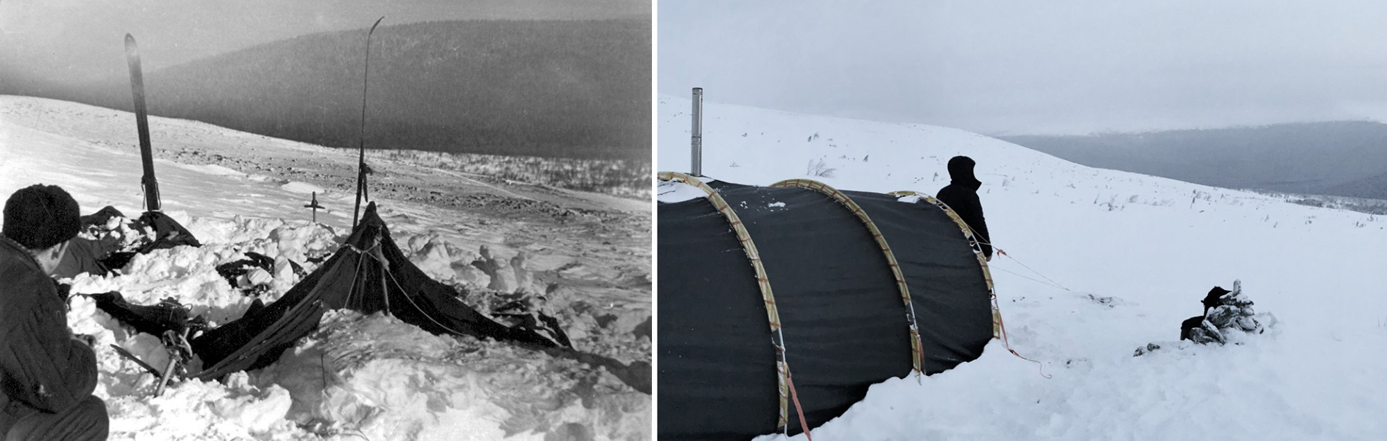 Dyatlov Pass: Dyatlov group's tent was found the 26th of February partly covered by snow