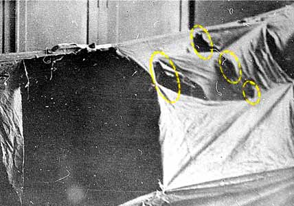 Dyatlov Pass: Tent is cut from inside