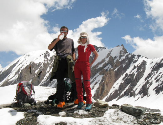 Teddy and Juri in Pamir Mountains
