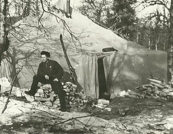 In the searchers camp. From Gubin's archive.