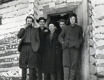 District 41. Jan 27. Farewell to workers. Ognev (left). Venediktov in the center.