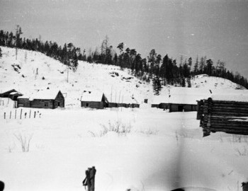 Jan 28 - 2nd Northern. Panorama of the village. The figure of a man is visible.
