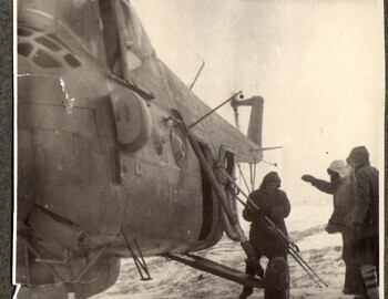 1S-04A Civil helicopter of the 123rd flight detachment at the pass. Brusnitsyn archive.