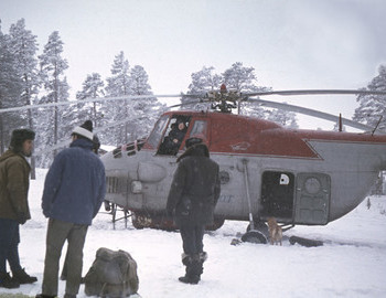 Feb 2, an Mi-4 helicopter starting from the abandoned geologists settlement of Puncha. Mi-4 were also used to search for Dyatlov group.