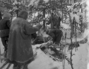 3 Mar - Slobtsov and Kurikov found Dyatlov's depot 400 m from the rescue camp