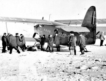 Aircraft AN-2 at the airfield Aramil, Svredlovsk,p hoto archive Vadim Brusnitsin