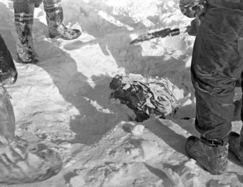 Slobodin's body was discovered on 5 March 1959 with a probe under 50 cm of snow