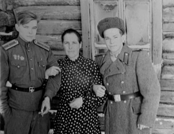Gennadiy with his mother Valentina Vasilievna and brother Vitaliy Vasilievich