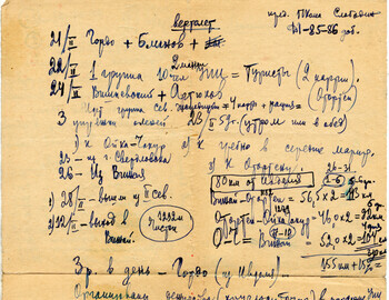 Search notes (Maslennikov records for the report in Ivdel)