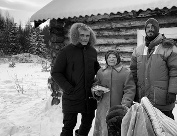 Richard Holmgren, Maria and Andreas Liljegren, Mansi village