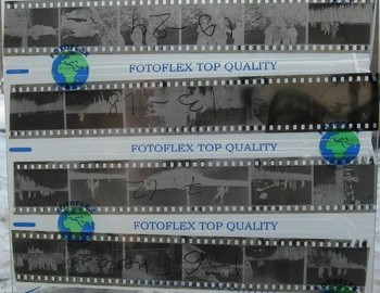 Unknown camera film №5 - the top two strips of the film marked 19-24 and 13-18 are swapped