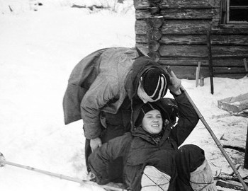 28 Jan 1959 in 2nd Northern settlement - Zina fell while huging Yudin, he is helping her getting up