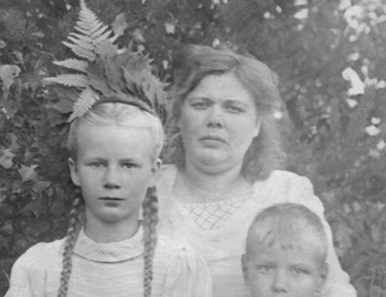 Lyudmila and her little brother