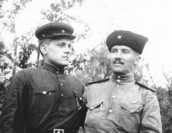 Alexander, on right, during the war