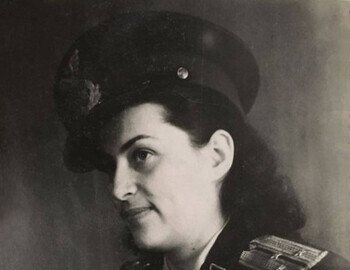 Tamara Burgach, the mother of Zolotaryov's son Sasha